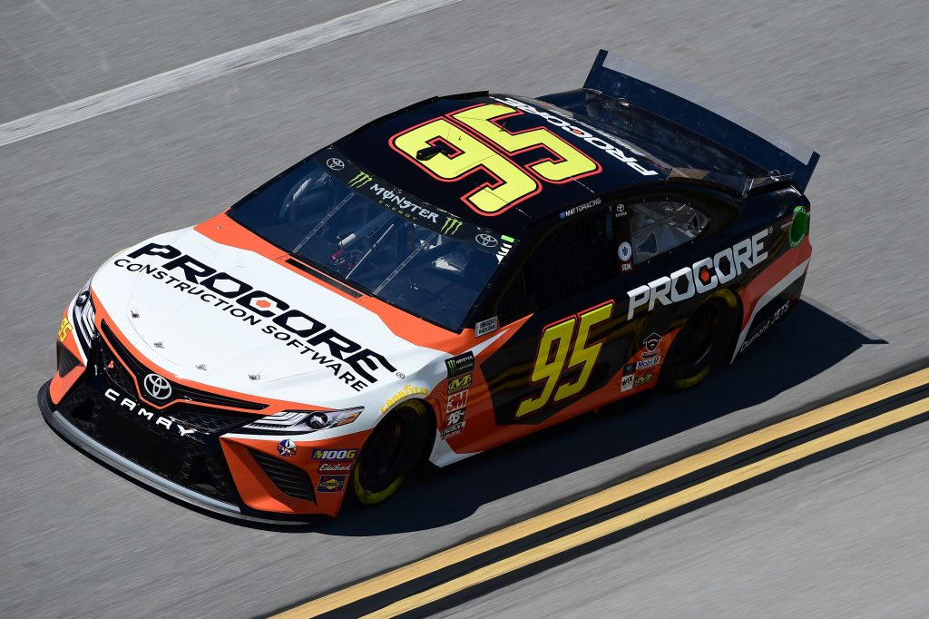 TALLADEGA, AL - APRIL 26: Matt DiBenedetto, driver of the #95 Procore Toyota, practices for the Monster Energy NASCAR Cup Series GEICO 500 at Talladega Superspeedway on April 26, 2019 in Talladega, Alabama. (Photo by Jared C. Tilton/Getty Images) | Getty Images