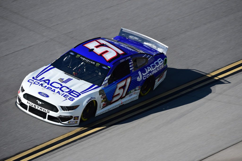 TALLADEGA, AL - APRIL 26: Cody Ware, driver of the #51 JACOB Companies Chevrolet, practices for the Monster Energy NASCAR Cup Series GEICO 500 at Talladega Superspeedway on April 26, 2019 in Talladega, Alabama. (Photo by Jared C. Tilton/Getty Images) | Getty Images