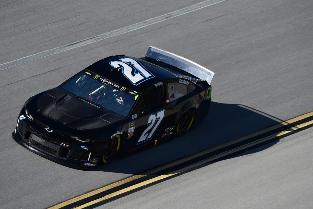 TALLADEGA, AL - APRIL 26: Reed Sorenson, driver of the #27 Low-T Centers Chevrolet, practices for the Monster Energy NASCAR Cup Series GEICO 500 at Talladega Superspeedway on April 26, 2019 in Talladega, Alabama. (Photo by Jared C. Tilton/Getty Images) | Getty Images