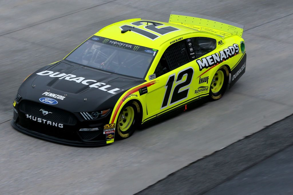 DOVER, DE - MAY 03: Ryan Blaney, driver of the #12 Menards/Duracell Ford, practices for the Monster Energy NASCAR Cup Series Gander RV 400 at Dover International Speedway on May 3, 2019 in Dover, Delaware. (Photo by Sean Gardner/Getty Images) | Getty Images