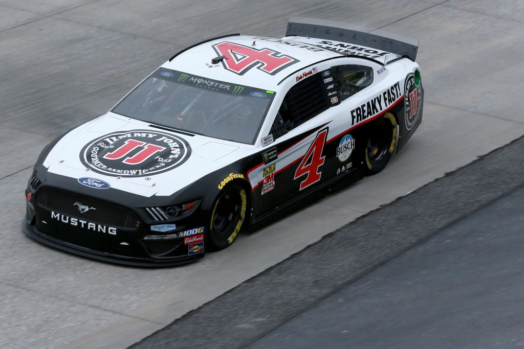 DOVER, DE - MAY 03: Kevin Harvick, driver of the #4 Jimmy John's Ford, practices for the Monster Energy NASCAR Cup Series Gander RV 400 at Dover International Speedway on May 3, 2019 in Dover, Delaware. (Photo by Sean Gardner/Getty Images) | Getty Images