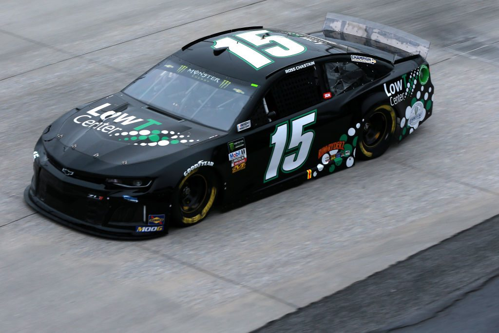 DOVER, DE - MAY 03: Ross Chastain, driver of the #15 Low T Center Chevrolet, practices for the Monster Energy NASCAR Cup Series Gander RV 400 at Dover International Speedway on May 3, 2019 in Dover, Delaware. (Photo by Sean Gardner/Getty Images) | Getty Images