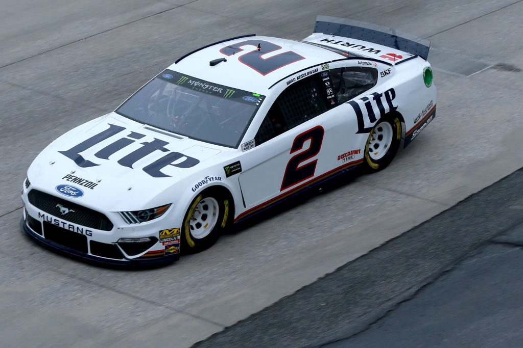 DOVER, DE - MAY 03: Brad Keselowski, driver of the #2 Miller Lite Ford, practices for the Monster Energy NASCAR Cup Series Gander RV 400 at Dover International Speedway on May 3, 2019 in Dover, Delaware. (Photo by Sean Gardner/Getty Images) | Getty Images
