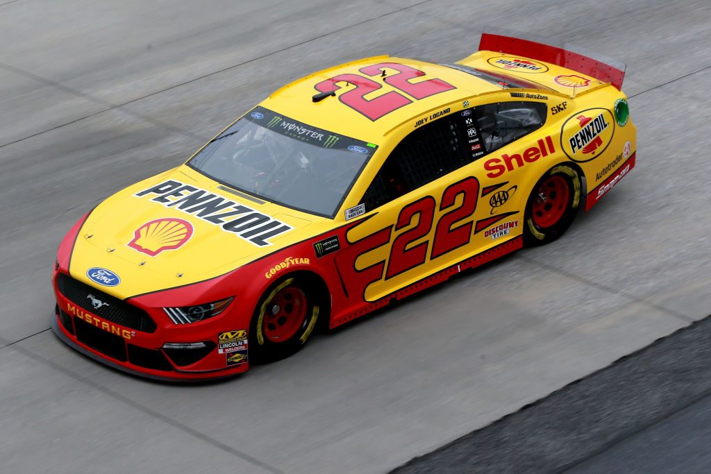 DOVER, DE - MAY 03: Joey Logano, driver of the #22 Shell Pennzoil Ford, practices for the Monster Energy NASCAR Cup Series Gander RV 400 at Dover International Speedway on May 3, 2019 in Dover, Delaware. (Photo by Sean Gardner/Getty Images) | Getty Images