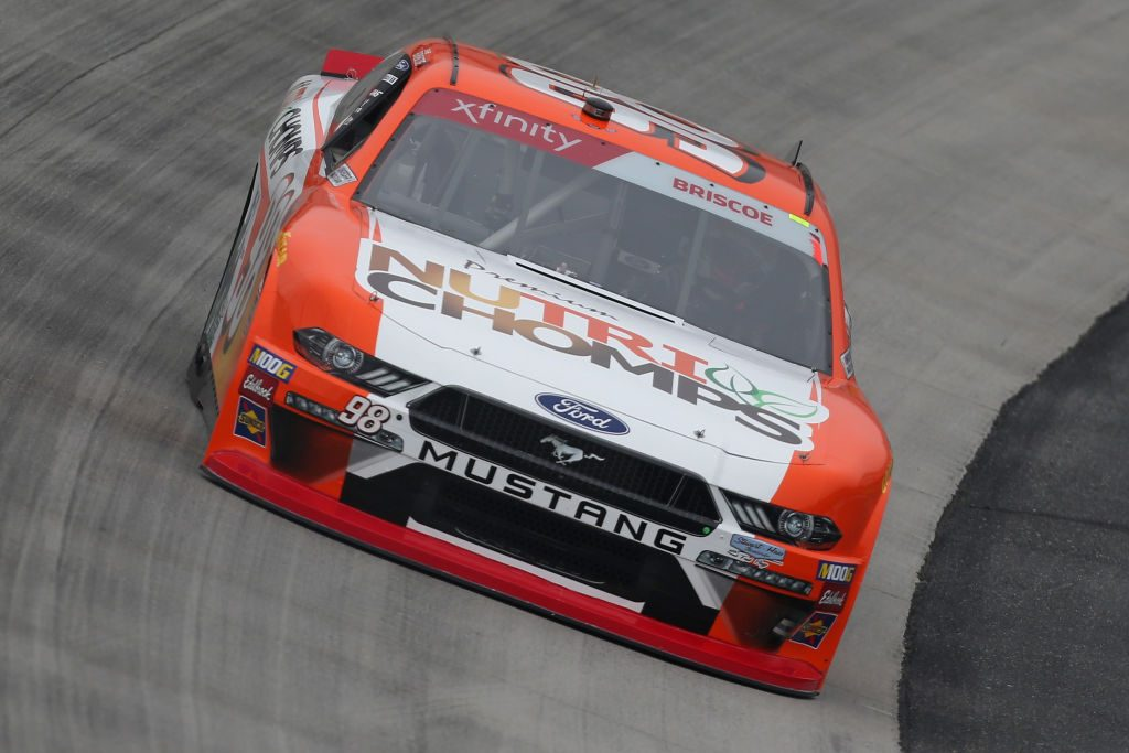 DOVER, DE - MAY 03: Chase Briscoe, driver of the #98 Nutri Chomps Ford, drives during practice for the NASCAR Xfinity Series Allied Steel Buildings 200 at Dover International Speedway on May 3, 2019 in Dover, Delaware. (Photo by Matt Sullivan/Getty Images) | Getty Images