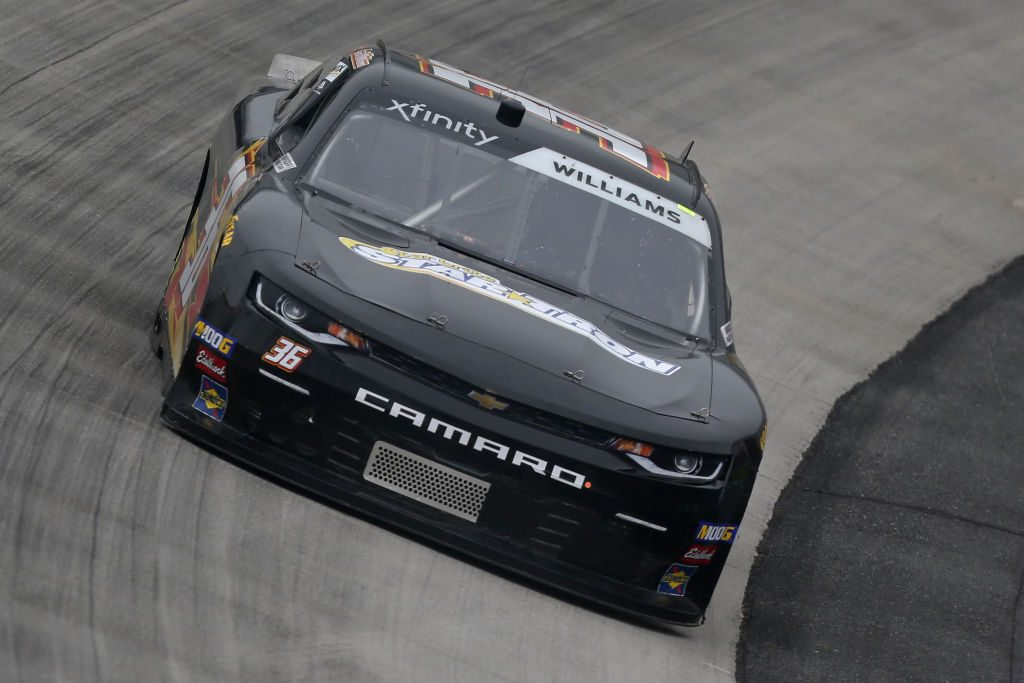 DOVER, DE - MAY 03: Josh Williams, driver of the #36 DGM Racing Chevrolet, drives during practice for the NASCAR Xfinity Series Allied Steel Buildings 200 at Dover International Speedway on May 3, 2019 in Dover, Delaware. (Photo by Matt Sullivan/Getty Images) | Getty Images