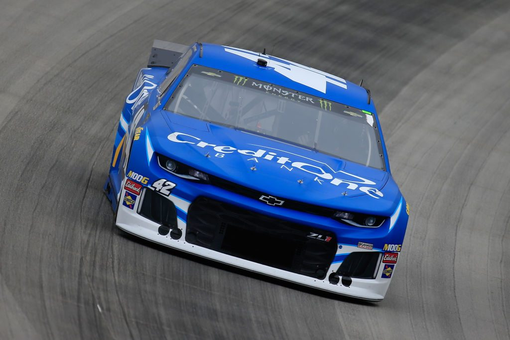 DOVER, DE - MAY 04: Kyle Larson, driver of the #42 Credit One Bank Chevrolet, drives during practice for the Monster Energy NASCAR Cup Series Gander RV 400 at Dover International Speedway on May 4, 2019 in Dover, Delaware. (Photo by Chris Trotman/Getty Images) | Getty Images