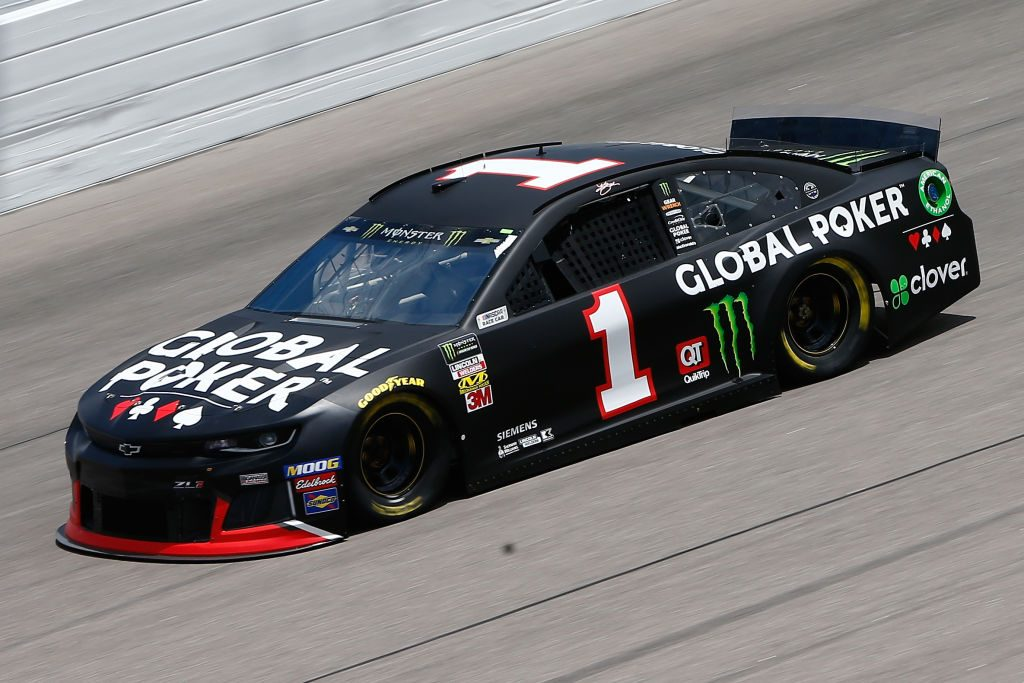 KANSAS CITY, KS - MAY 10: Kurt Busch, driver of the #1 Global Poker Chevrolet, drives during practice for the Monster Energy NASCAR Cup Series Digital Ally 400 at Kansas Speedway on May 10, 2019 in Kansas City, Kansas. (Photo by Jonathan Ferrey/Getty Images) | Getty Images