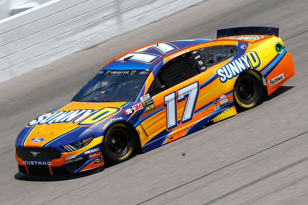 KANSAS CITY, KS - MAY 10: Ricky Stenhouse Jr., driver of the #17 SunnyD Ford, drives during practice for the Monster Energy NASCAR Cup Series Digital Ally 400 at Kansas Speedway on May 10, 2019 in Kansas City, Kansas. (Photo by Jonathan Ferrey/Getty Images) | Getty Images
