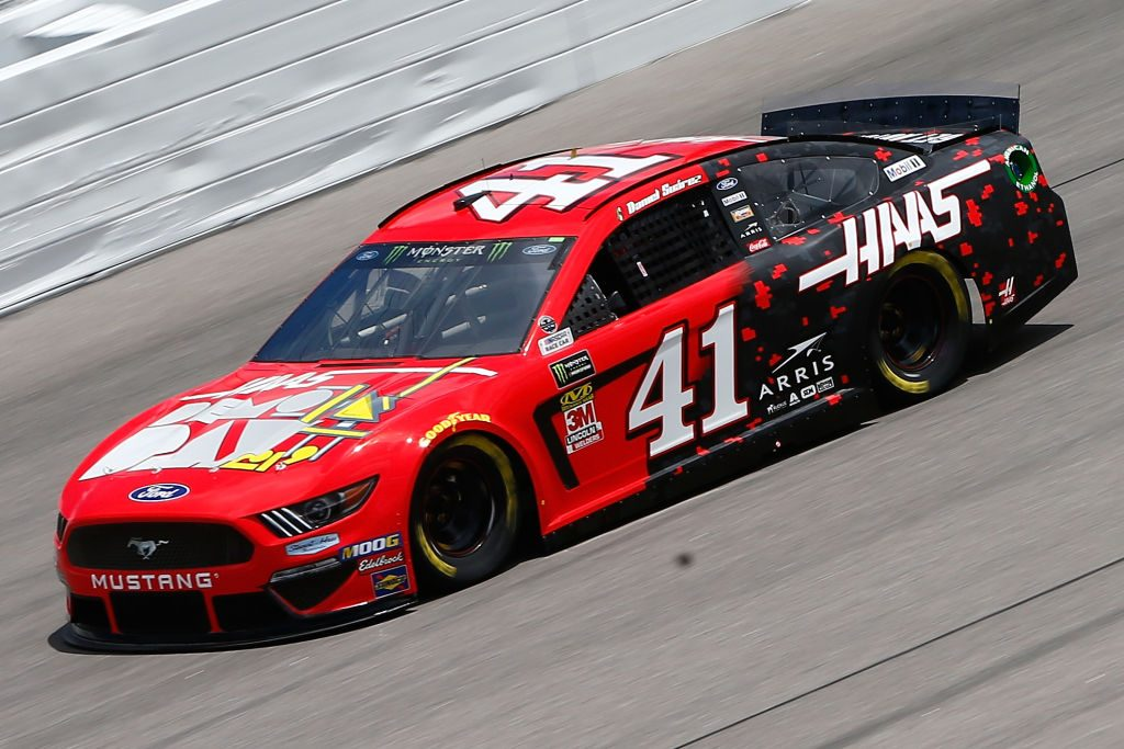 KANSAS CITY, KS - MAY 10: Daniel Suarez, driver of the #41 Haas Automation Demo Day Ford, drives during practice for the Monster Energy NASCAR Cup Series Digital Ally 400 at Kansas Speedway on May 10, 2019 in Kansas City, Kansas. (Photo by Jonathan Ferrey/Getty Images) | Getty Images