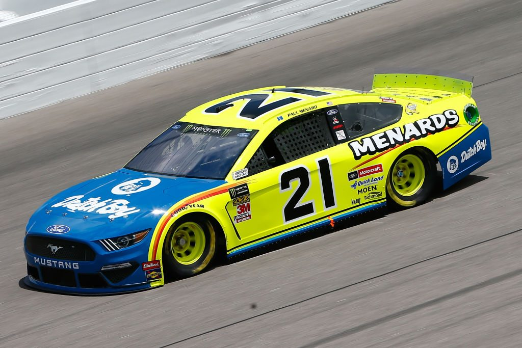 KANSAS CITY, KS - MAY 10: Paul Menard, driver of the #21 Menards/Dutch Boy Ford, drives during practice for the Monster Energy NASCAR Cup Series Digital Ally 400 at Kansas Speedway on May 10, 2019 in Kansas City, Kansas. (Photo by Jonathan Ferrey/Getty Images) | Getty Images