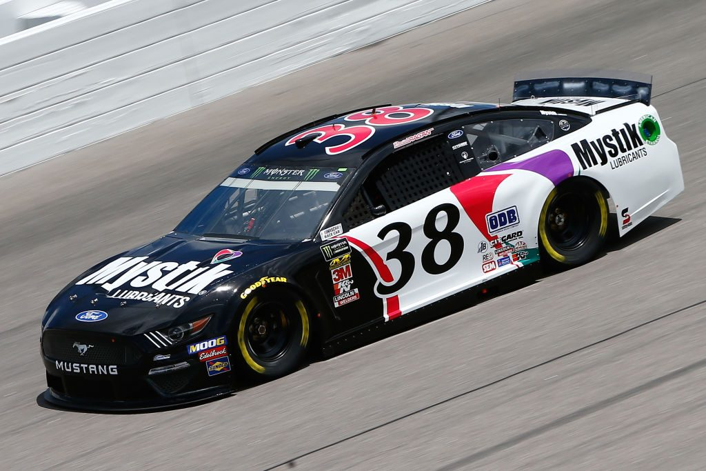 KANSAS CITY, KS - MAY 10: David Ragan, driver of the #38 Mystik Lubricants Ford, drives during practice for the Monster Energy NASCAR Cup Series Digital Ally 400 at Kansas Speedway on May 10, 2019 in Kansas City, Kansas. (Photo by Jonathan Ferrey/Getty Images) | Getty Images