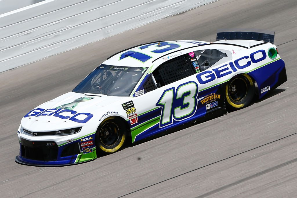 KANSAS CITY, KS - MAY 10: Ty Dillon, driver of the #13 GEICO Chevrolet, drives during practice for the Monster Energy NASCAR Cup Series Digital Ally 400 at Kansas Speedway on May 10, 2019 in Kansas City, Kansas. (Photo by Jonathan Ferrey/Getty Images) | Getty Images