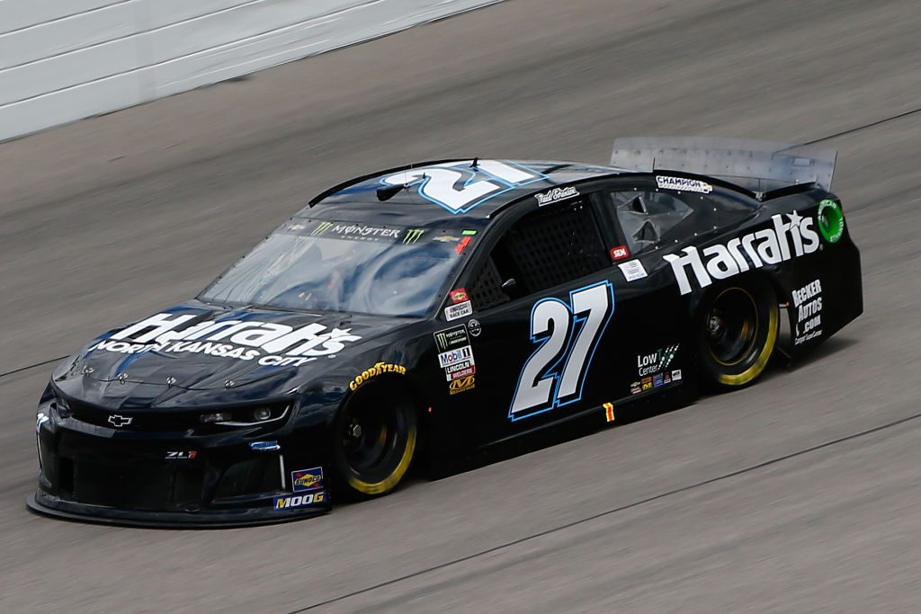 KANSAS CITY, KS - MAY 10: Reed Sorenson, driver of the #27 Harrah's Chevrolet drives during practice for the Monster Energy NASCAR Cup Series Digital Ally 400 at Kansas Speedway on May 10, 2019 in Kansas City, Kansas. (Photo by Jonathan Ferrey/Getty Images) | Getty Images