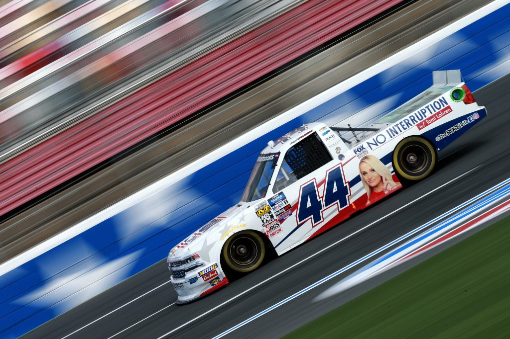 CHARLOTTE, NC - MAY 17: Angela Ruch, driver of the #44 FOX Nation/The Ruch Life Chevrolet, practices for the NASCAR Gander Outdoors Truck Series North Carolina Education Lottery 200 at Charlotte Motor Speedway on May 17, 2019 in Charlotte, North Carolina. (Photo by Sean Gardner/Getty Images) | Getty Images