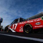 CHARLOTTE, NC - MAY 17:  Tyler Ankrum, driver of the #17 May's Hawaii Toyota, drives through the garage during practice for the NASCAR Gander Outdoors Truck Series North Carolina Education Lottery 200 at Charlotte Motor Speedway on May 17, 2019 in Charlotte, North Carolina.  (Photo by Sean Gardner/Getty Images) | Getty Images