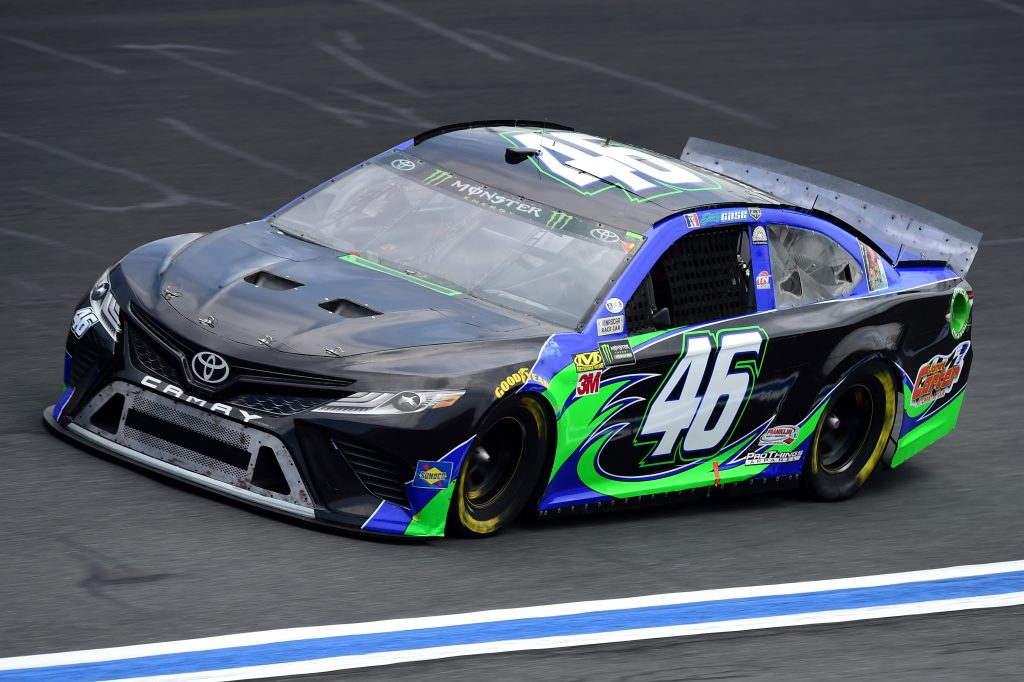 CHARLOTTE, NC - MAY 17: Joey Gase, driver of the #46 MBM Motorsports Toyota, practices for the Monster Energy NASCAR Cup Series All-Star Race and the Monster Energy NASCAR Cup Series Open Race at Charlotte Motor Speedway on May 17, 2019 in Charlotte, North Carolina. (Photo by Jared C. Tilton/Getty Images) | Getty Images
