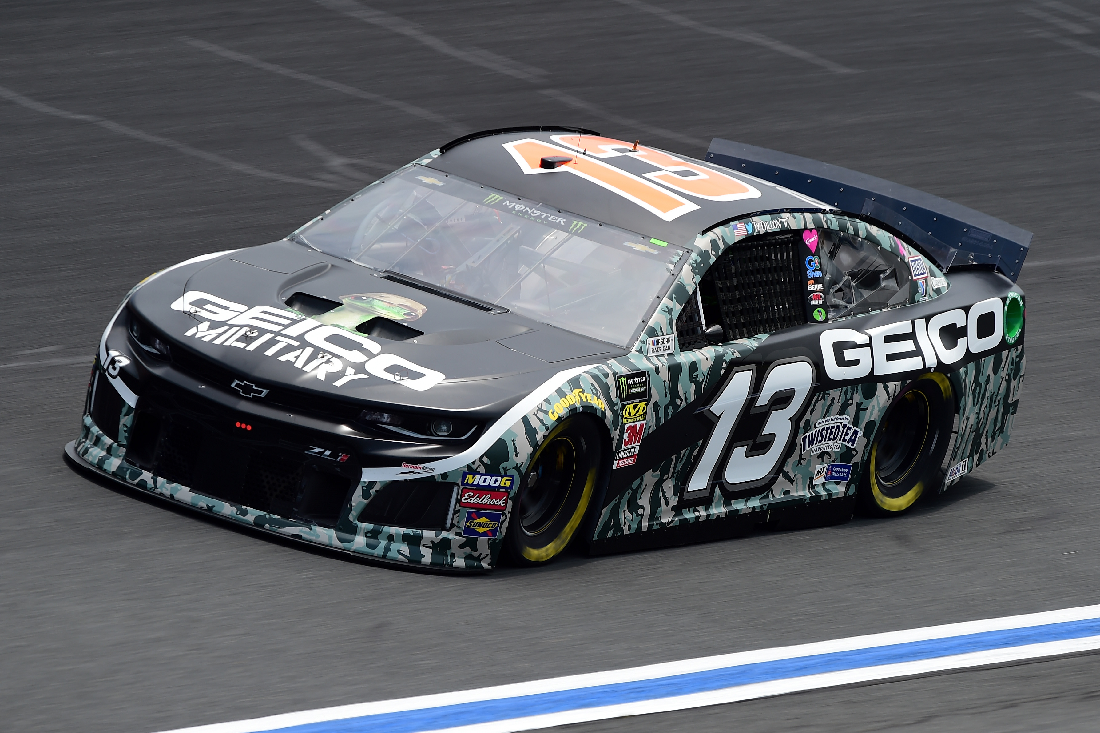 CHARLOTTE, NC - MAY 17: Ty Dillon, driver of the #13 GEICO Military Chevrolet, practices for the Monster Energy NASCAR Cup Series All-Star Race and the Monster Energy NASCAR Cup Series Open Race at Charlotte Motor Speedway on May 17, 2019 in Charlotte, North Carolina. (Photo by Jared C. Tilton/Getty Images) | Getty Images