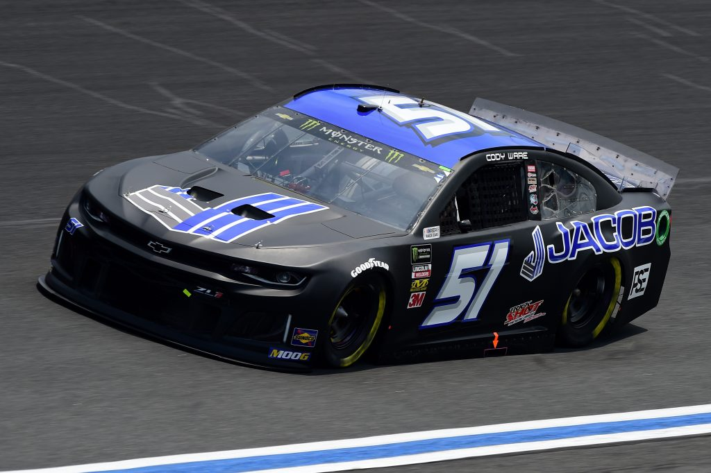 CHARLOTTE, NC - MAY 17: Cody Ware, driver of the #51 JACOB Companies Chevrolet, practices for the Monster Energy NASCAR Cup Series All-Star Race and the Monster Energy NASCAR Cup Series Open Race at Charlotte Motor Speedway on May 17, 2019 in Charlotte, North Carolina. (Photo by Jared C. Tilton/Getty Images) | Getty Images