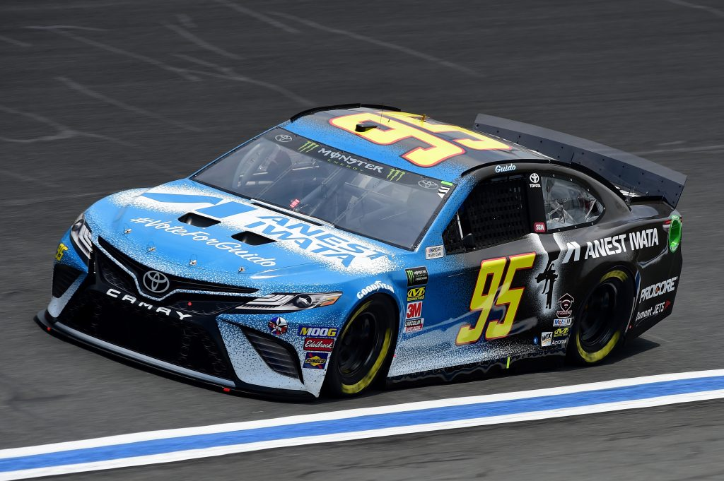 CHARLOTTE, NC - MAY 17: Matt DiBenedetto, driver of the #95 Anest Iwata Toyota, practices for the Monster Energy NASCAR Cup Series All-Star Race and the Monster Energy NASCAR Cup Series Open Race at Charlotte Motor Speedway on May 17, 2019 in Charlotte, North Carolina. (Photo by Jared C. Tilton/Getty Images) | Getty Images