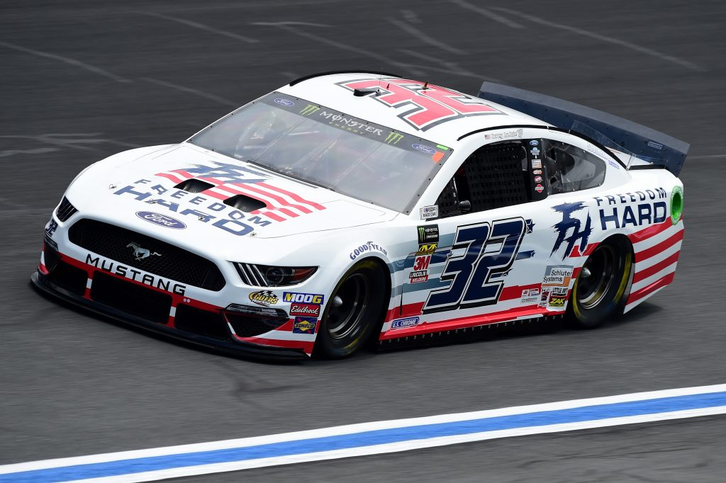 CHARLOTTE, NC - MAY 17: Corey LaJoie, driver of the #32 Freedom Hard Ford, practices for the Monster Energy NASCAR Cup Series All-Star Race and the Monster Energy NASCAR Cup Series Open Race at Charlotte Motor Speedway on May 17, 2019 in Charlotte, North Carolina. (Photo by Jared C. Tilton/Getty Images) | Getty Images