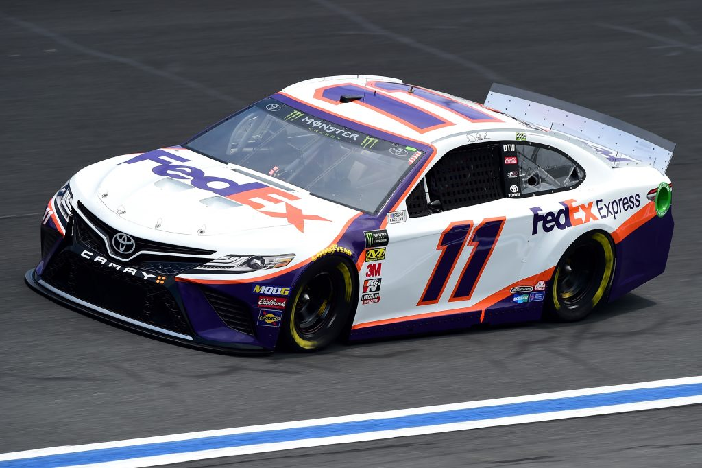 CHARLOTTE, NC - MAY 17: Denny Hamlin, driver of the #11 FedEx Freight Toyota, practices for the Monster Energy NASCAR Cup Series All-Star Race and the Monster Energy NASCAR Cup Series Open Race at Charlotte Motor Speedway on May 17, 2019 in Charlotte, North Carolina. (Photo by Jared C. Tilton/Getty Images) | Getty Images