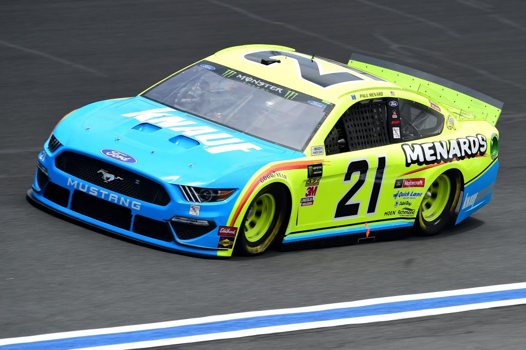 CHARLOTTE, NC - MAY 17: Paul Menard, driver of the #21 Menards/Knauf Ford, practices for the Monster Energy NASCAR Cup Series All-Star Race and the Monster Energy NASCAR Cup Series Open Race at Charlotte Motor Speedway on May 17, 2019 in Charlotte, North Carolina. (Photo by Jared C. Tilton/Getty Images) | Getty Images