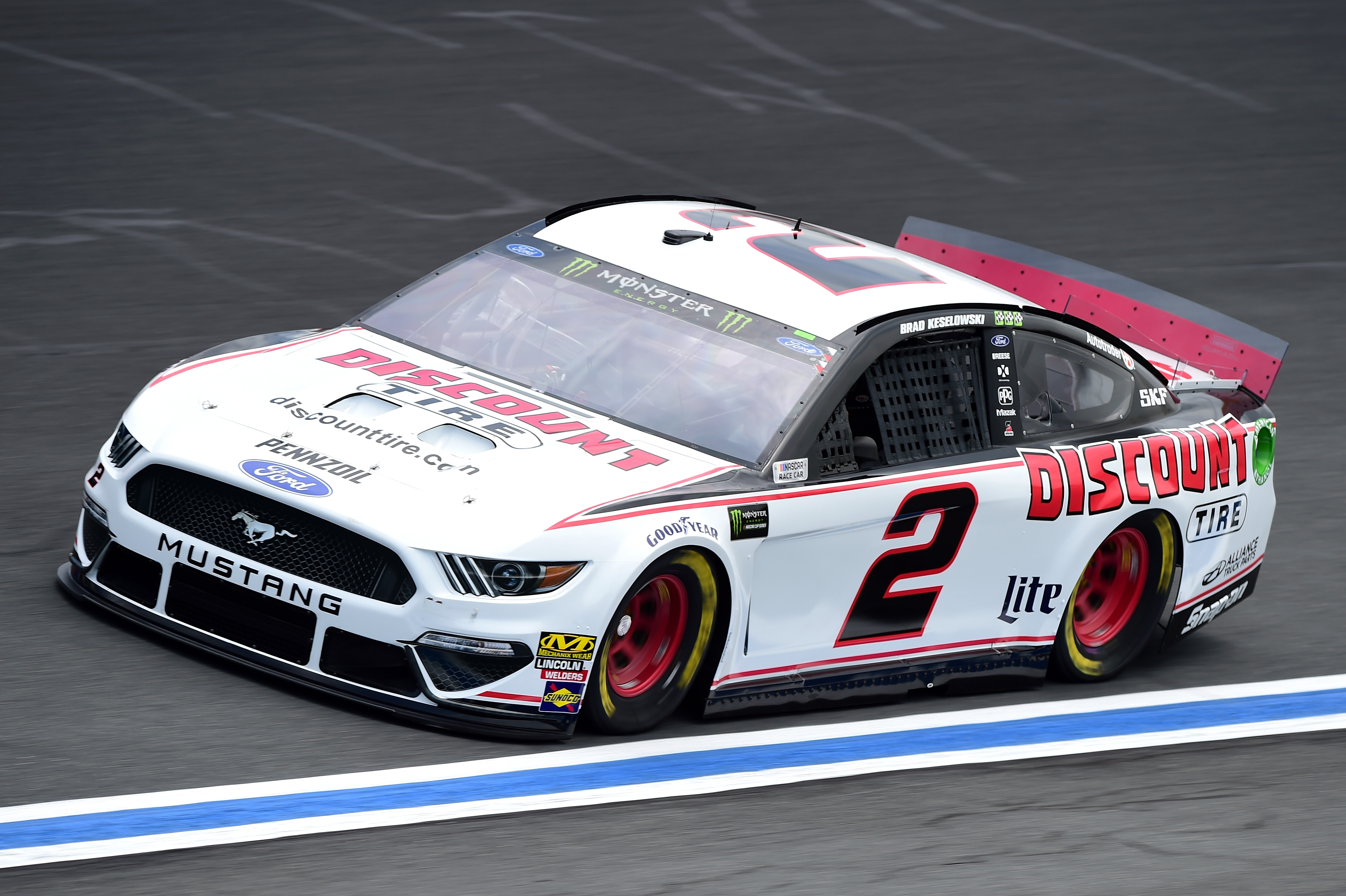 CHARLOTTE, NC - MAY 17: Brad Keselowski, driver of the #2 Discount Tire Ford, practices for the Monster Energy NASCAR Cup Series All-Star Race and the Monster Energy NASCAR Cup Series Open Race at Charlotte Motor Speedway on May 17, 2019 in Charlotte, North Carolina. (Photo by Jared C. Tilton/Getty Images) | Getty Images