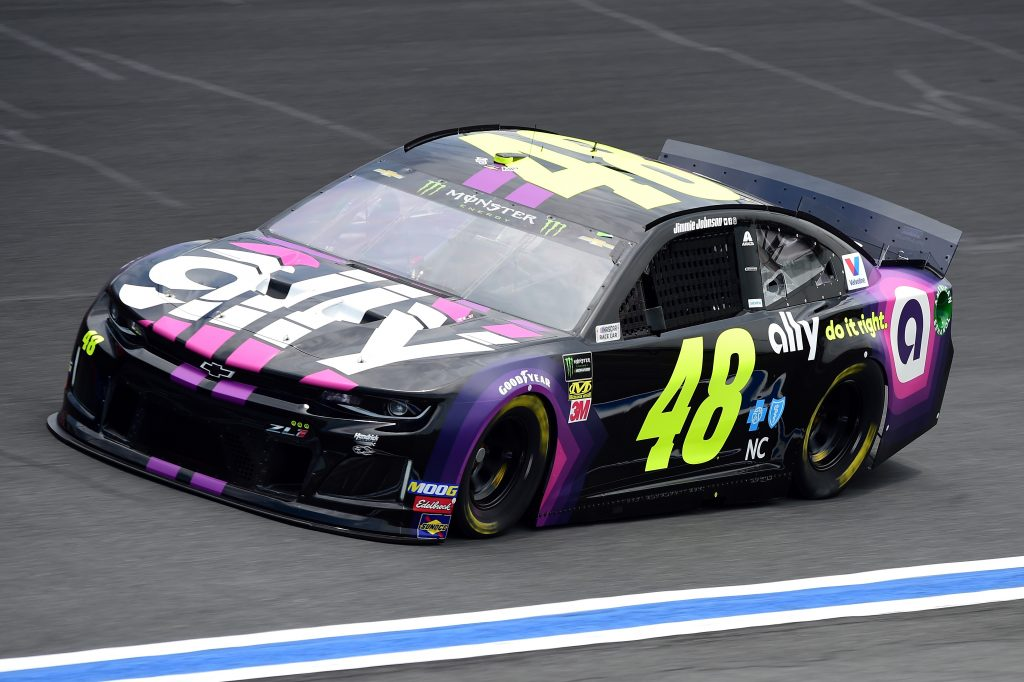 CHARLOTTE, NC - MAY 17: Jimmie Johnson, driver of the #48 Ally Chevrolet, practices for the Monster Energy NASCAR Cup Series All-Star Race and the Monster Energy NASCAR Cup Series Open Race at Charlotte Motor Speedway on May 17, 2019 in Charlotte, North Carolina. (Photo by Jared C. Tilton/Getty Images) | Getty Images