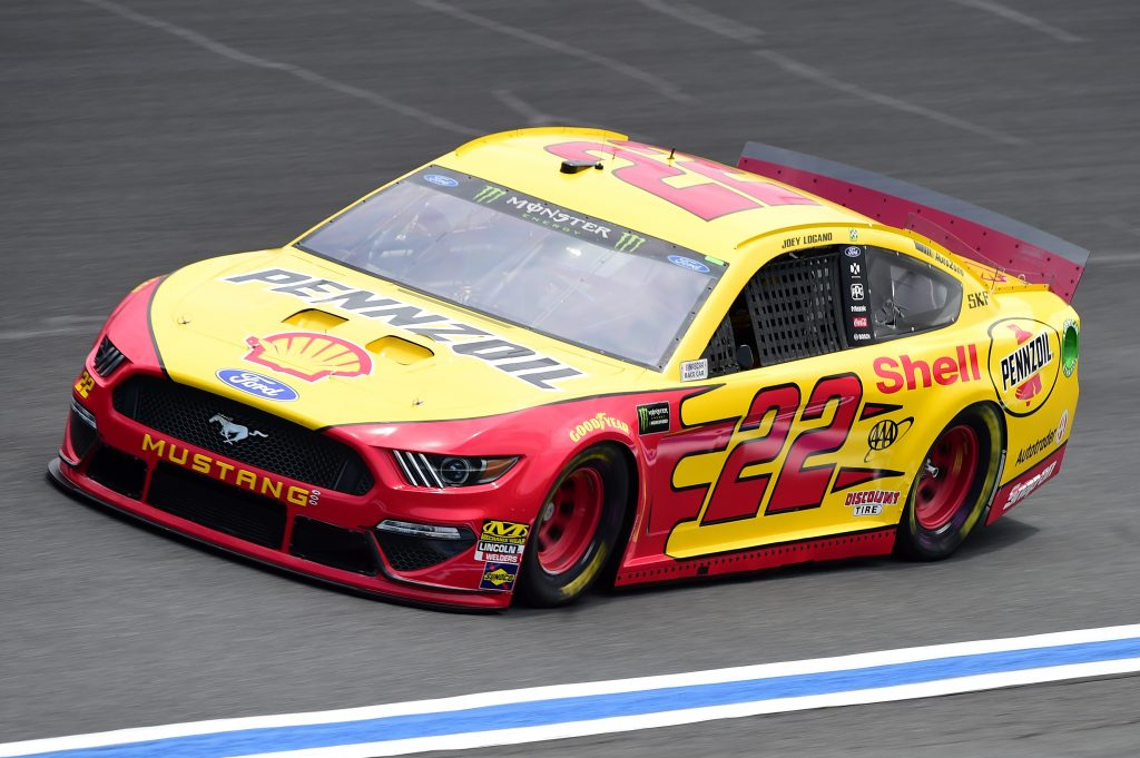 CHARLOTTE, NC - MAY 17: Joey Logano, driver of the #22 Shell Pennzoil Ford, practices for the Monster Energy NASCAR Cup Series All-Star Race and the Monster Energy NASCAR Cup Series Open Race at Charlotte Motor Speedway on May 17, 2019 in Charlotte, North Carolina. (Photo by Jared C. Tilton/Getty Images) | Getty Images