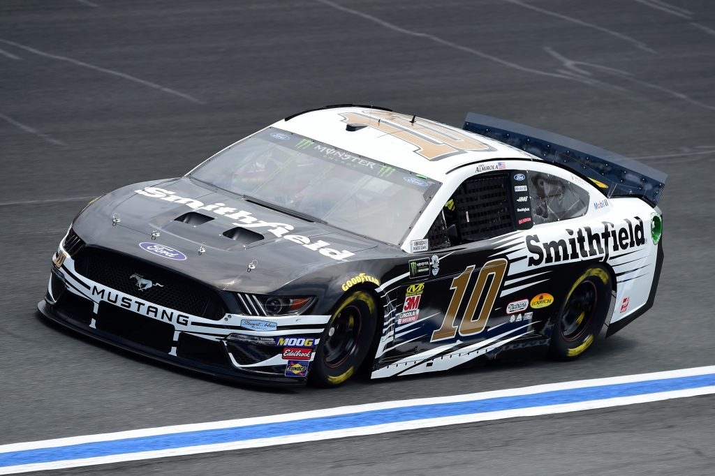 CHARLOTTE, NC - MAY 17: Aric Almirola, driver of the #10 Smithfield Ford, practices for the Monster Energy NASCAR Cup Series All-Star Race and the Monster Energy NASCAR Cup Series Open Race at Charlotte Motor Speedway on May 17, 2019 in Charlotte, North Carolina. (Photo by Jared C. Tilton/Getty Images) | Getty Images