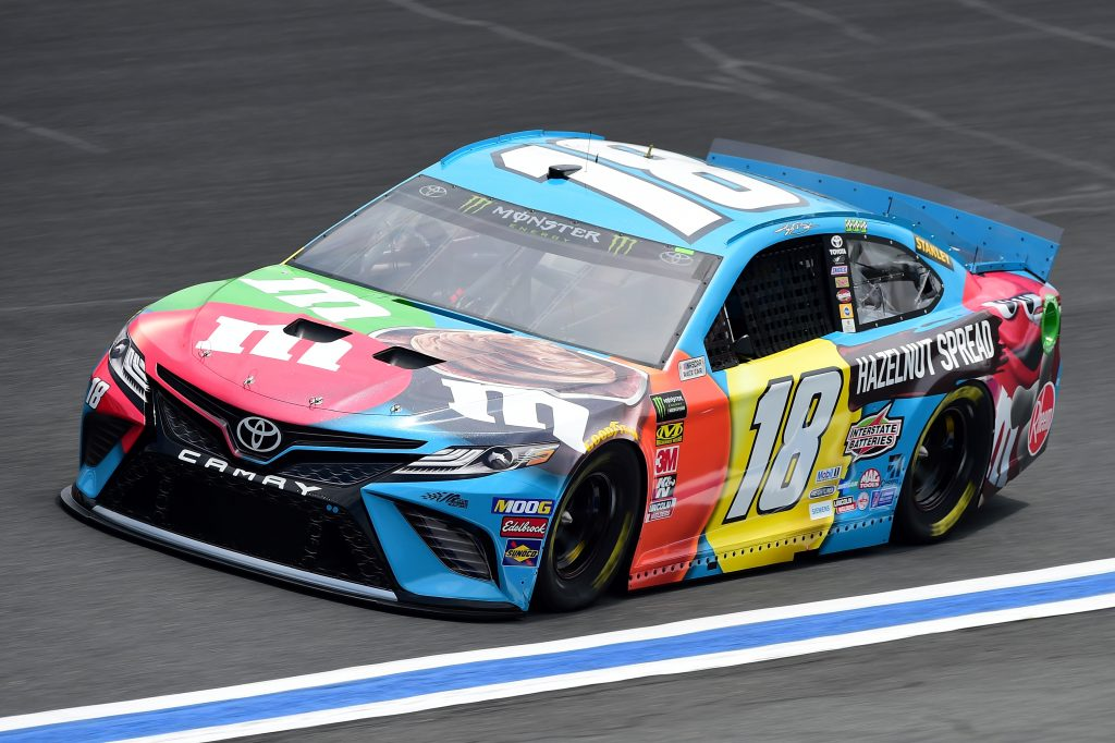 CHARLOTTE, NC - MAY 17: Kyle Busch, driver of the #18 M&M's Hazelnut Toyota, practices for the Monster Energy NASCAR Cup Series All-Star Race and the Monster Energy NASCAR Cup Series Open Race at Charlotte Motor Speedway on May 17, 2019 in Charlotte, North Carolina. (Photo by Jared C. Tilton/Getty Images) | Getty Images
