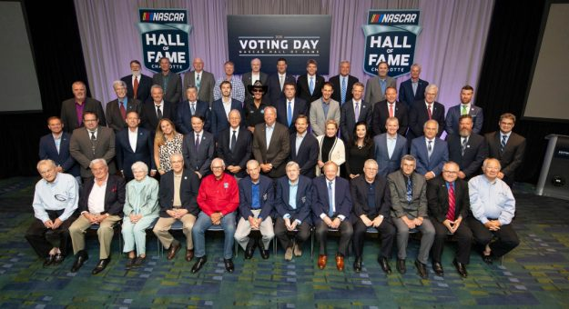 CHARLOTTE, NC - MAY 22: 2019  The voting panel poses for a photo before the NASCAR Hall of Fame Voting Day at the Charlotte Convention Center on May 22, 2019 in Charlotte, North Carolina. (Photo by Jason Miczek/Getty Images) | Getty Images