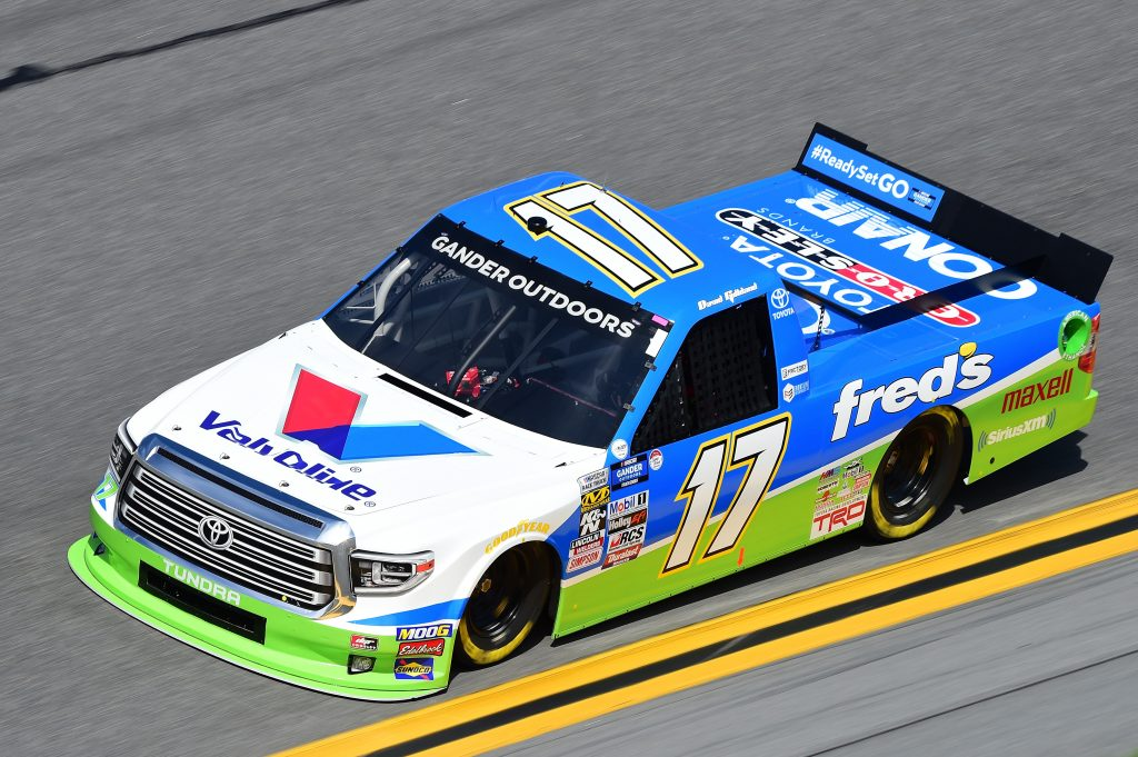DAYTONA BEACH, FL - FEBRUARY 14: David Gilliland, driver of the #17 fred's/Valvoline Toyota, practices for the NASCAR Gander Outdoor Truck Series NextEra Energy 250 at Daytona International Speedway on February 14, 2019 in Daytona Beach, Florida. (Photo by Jared C. Tilton/Getty Images) | Getty Images
