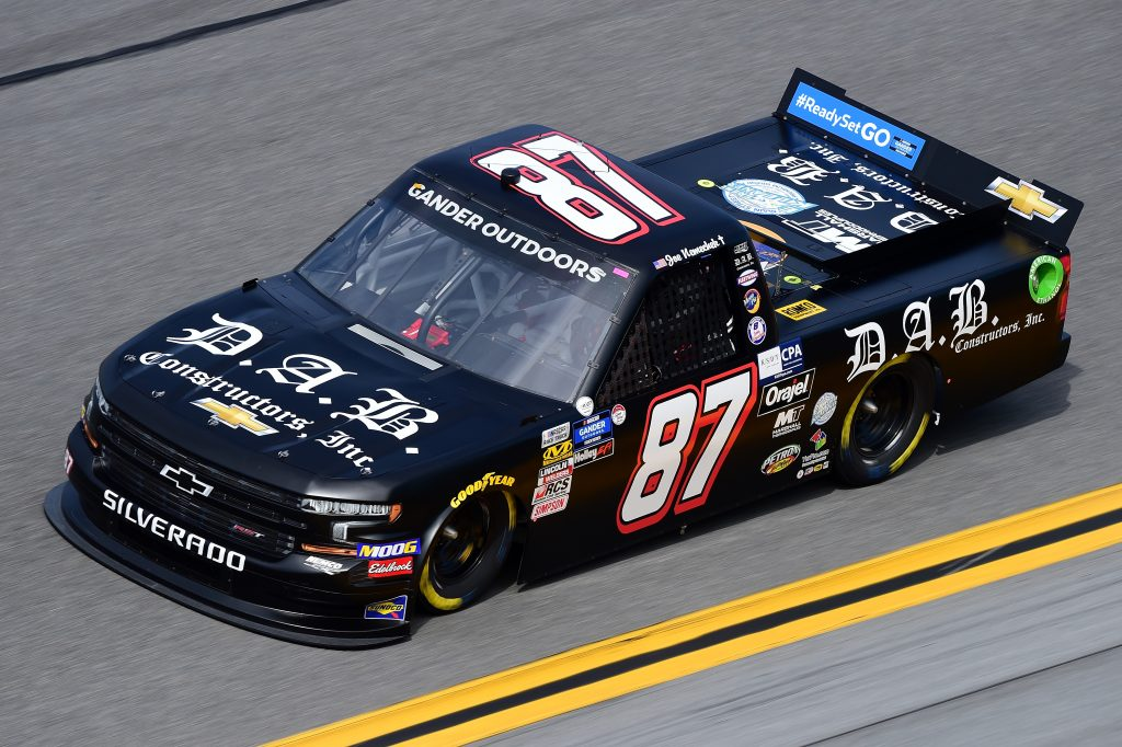 DAYTONA BEACH, FL - FEBRUARY 14: Joe Nemechek, driver of the #87 Fleetwing Corp./D.A.B. Constructors Chevrolet, practices for the NASCAR Gander Outdoor Truck Series NextEra Energy 250 at Daytona International Speedway on February 14, 2019 in Daytona Beach, Florida. (Photo by Jared C. Tilton/Getty Images) | Getty Images