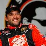 CONCORD, NC - MAY 19: Tony Stewart, driver of the #20 Home Depot Chevrolet, talks to the media at a press conference annouuncing his new radio show on Sirius Radio, a day before the NASCAR Nextel All-Star Challenge at Lowe's Motor Speedway on May 19, 2006 in Concord, North Carolina. (Photo by Rusty Jarrett/Getty Images for NASCAR) | Getty Images