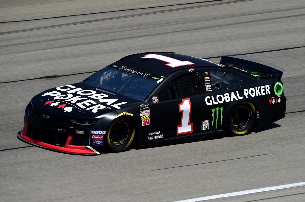 JOLIET, ILLINOIS - JUNE 29: Kurt Busch, driver of the #1 Global Poker Chevrolet, practices for the Monster Energy NASCAR Cup Series Camping World 400 at Chicagoland Speedway on June 29, 2019 in Joliet, Illinois. (Photo by Jared C. Tilton/Getty Images) | Getty Images