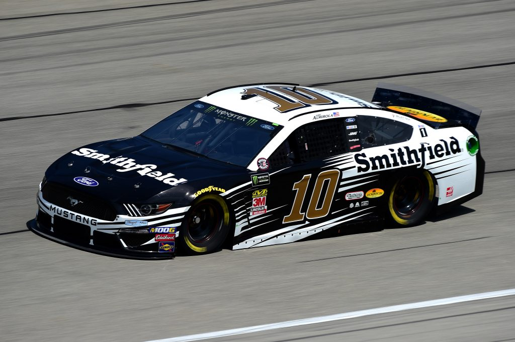 JOLIET, ILLINOIS - JUNE 29: Aric Almirola, driver of the #10 Smithfield Ford, practices for the Monster Energy NASCAR Cup Series Camping World 400 at Chicagoland Speedway on June 29, 2019 in Joliet, Illinois. (Photo by Jared C. Tilton/Getty Images) | Getty Images