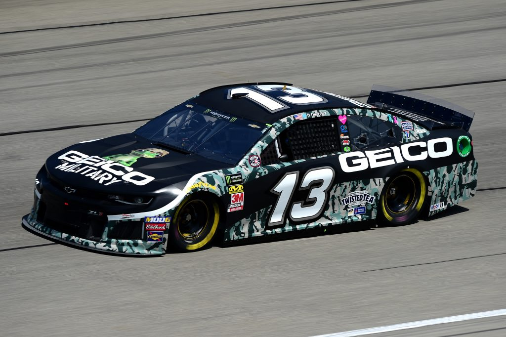 JOLIET, ILLINOIS - JUNE 29: Ty Dillon, driver of the #13 GEICO Military Chevrolet, practices for the Monster Energy NASCAR Cup Series Camping World 400 at Chicagoland Speedway on June 29, 2019 in Joliet, Illinois. (Photo by Jared C. Tilton/Getty Images) | Getty Images