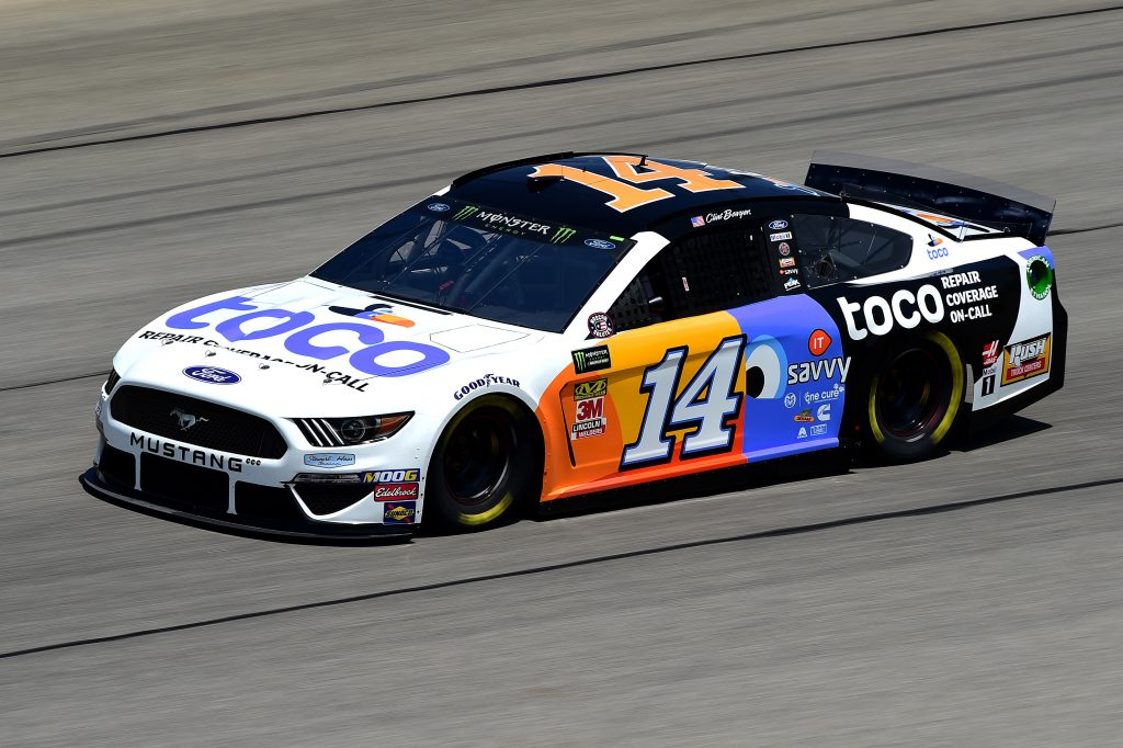 JOLIET, ILLINOIS - JUNE 29: Clint Bowyer, driver of the #14 Toco Warranty Ford, practices for the Monster Energy NASCAR Cup Series Camping World 400 at Chicagoland Speedway on June 29, 2019 in Joliet, Illinois. (Photo by Jared C. Tilton/Getty Images) | Getty Images