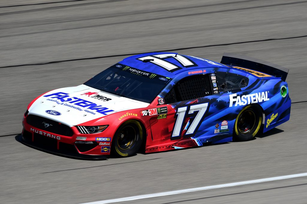 JOLIET, ILLINOIS - JUNE 29: Ricky Stenhouse Jr., driver of the #17 Fastenal Ford, practices for the Monster Energy NASCAR Cup Series Camping World 400 at Chicagoland Speedway on June 29, 2019 in Joliet, Illinois. (Photo by Jared C. Tilton/Getty Images) | Getty Images