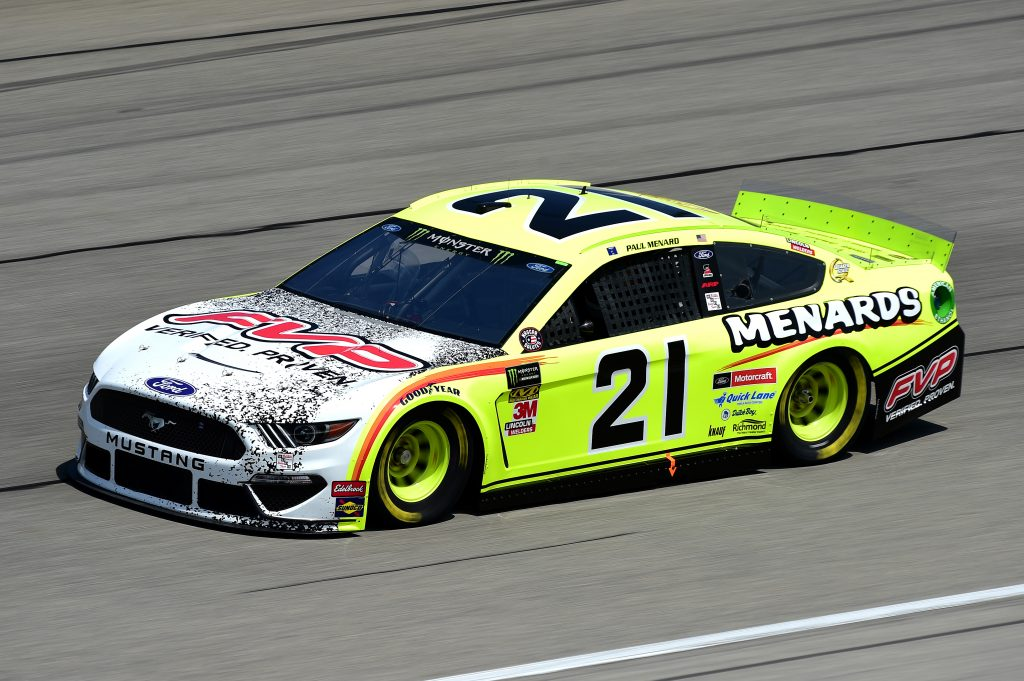 JOLIET, ILLINOIS - JUNE 29: Paul Menard, driver of the #21 Menards/FVP Ford, practices for the Monster Energy NASCAR Cup Series Camping World 400 at Chicagoland Speedway on June 29, 2019 in Joliet, Illinois. (Photo by Jared C. Tilton/Getty Images) | Getty Images
