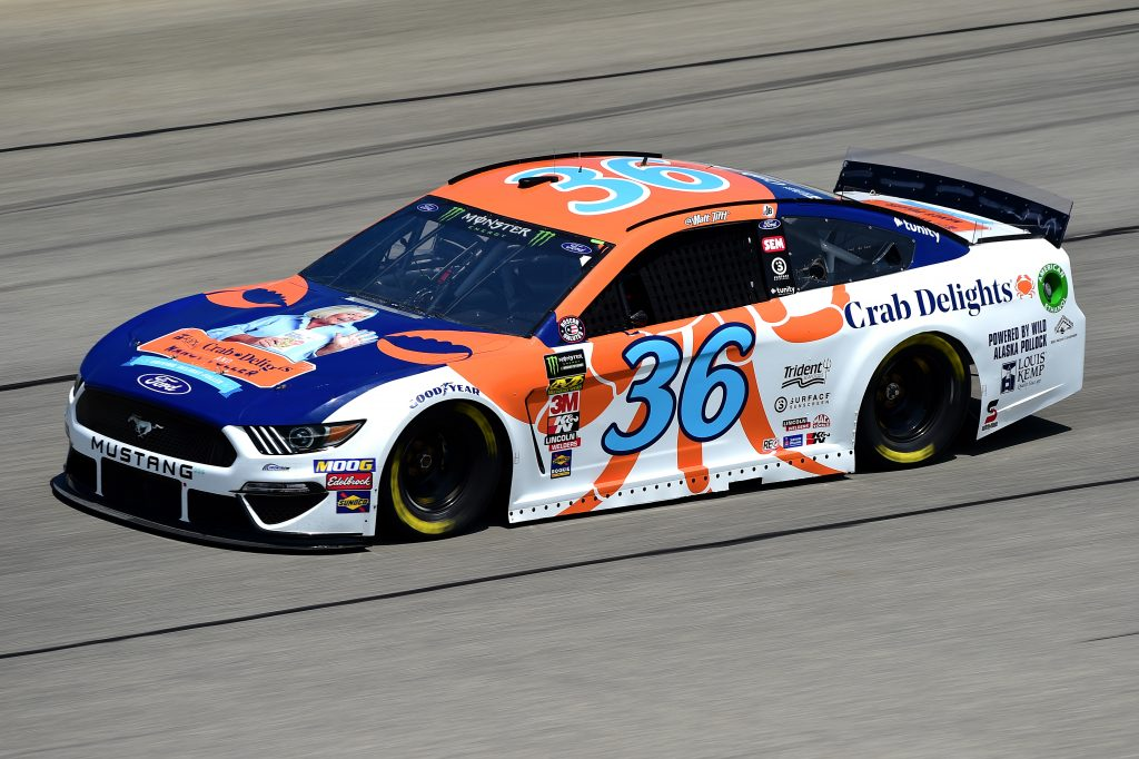 JOLIET, ILLINOIS - JUNE 29: Matt Tifft, driver of the #36 Louis Kemp Crab Delights Ford, practices for the Monster Energy NASCAR Cup Series Camping World 400 at Chicagoland Speedway on June 29, 2019 in Joliet, Illinois. (Photo by Jared C. Tilton/Getty Images) | Getty Images