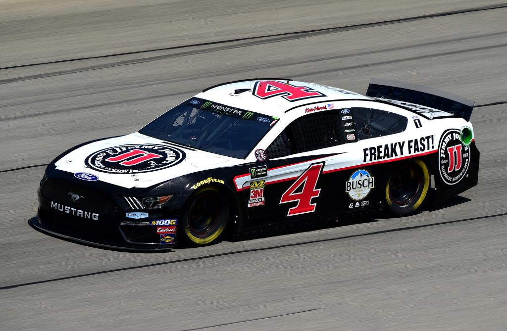 JOLIET, ILLINOIS - JUNE 29: Kevin Harvick, driver of the #4 Jimmy John's Ford, practices for the Monster Energy NASCAR Cup Series Camping World 400 at Chicagoland Speedway on June 29, 2019 in Joliet, Illinois. (Photo by Jared C. Tilton/Getty Images) | Getty Images