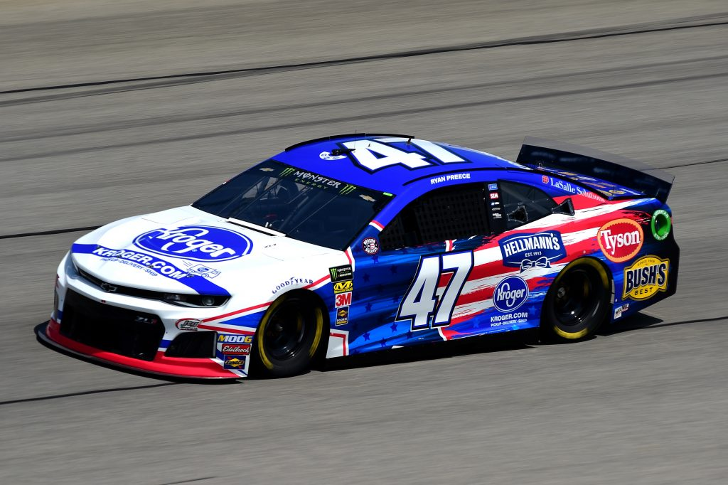 JOLIET, ILLINOIS - JUNE 29: Ryan Preece, driver of the #47 Kroger Chevrolet, practices for the Monster Energy NASCAR Cup Series Camping World 400 at Chicagoland Speedway on June 29, 2019 in Joliet, Illinois. (Photo by Jared C. Tilton/Getty Images) | Getty Images