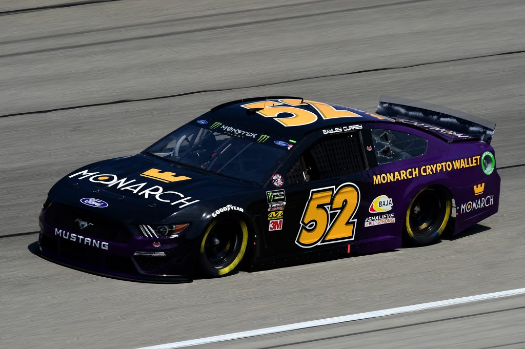 JOLIET, ILLINOIS - JUNE 29: Bayley Currey, driver of the #52 Monarch Crypto Wallet Chevrolet, practices for the Monster Energy NASCAR Cup Series Camping World 400 at Chicagoland Speedway on June 29, 2019 in Joliet, Illinois. (Photo by Jared C. Tilton/Getty Images) | Getty Images
