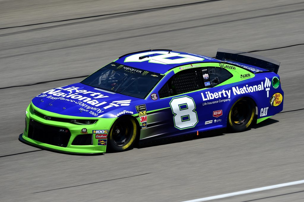 JOLIET, ILLINOIS - JUNE 29: Daniel Hemric, driver of the #8 Liberty National Chevrolet, practices for the Monster Energy NASCAR Cup Series Camping World 400 at Chicagoland Speedway on June 29, 2019 in Joliet, Illinois. (Photo by Jared C. Tilton/Getty Images) | Getty Images