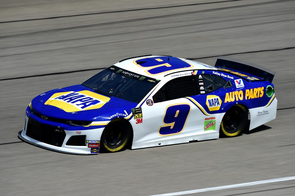 JOLIET, ILLINOIS - JUNE 29: Chase Elliott, driver of the #9 NAPA Auto Parts Chevrolet, practices for the Monster Energy NASCAR Cup Series Camping World 400 at Chicagoland Speedway on June 29, 2019 in Joliet, Illinois. (Photo by Jared C. Tilton/Getty Images) | Getty Images