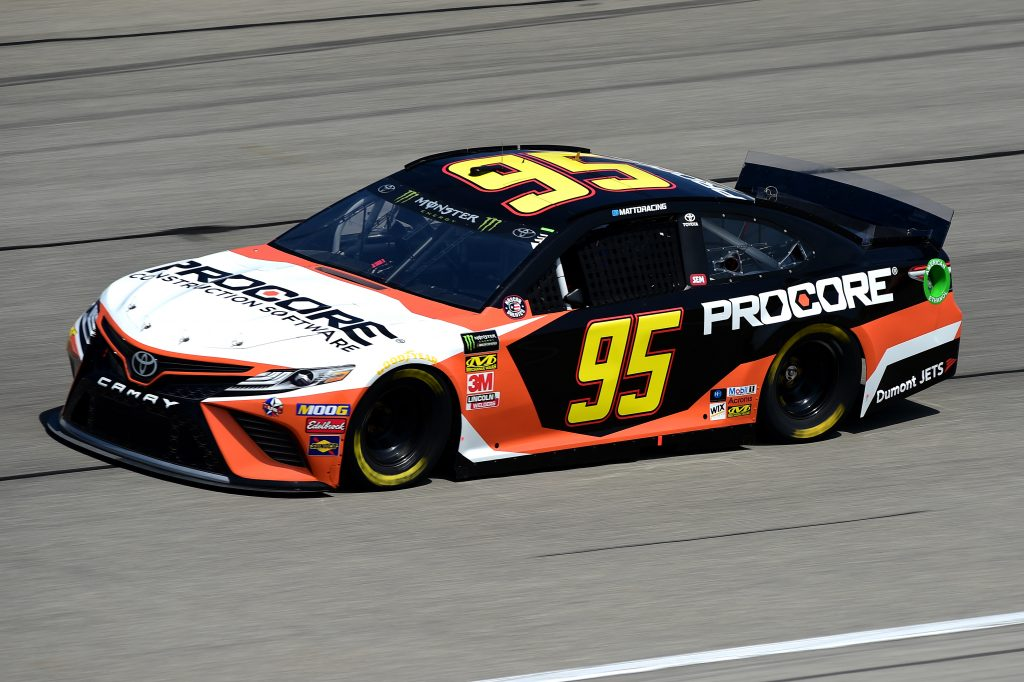 JOLIET, ILLINOIS - JUNE 29: Matt DiBenedetto, driver of the #95 Procore Toyota, practices for the Monster Energy NASCAR Cup Series Camping World 400 at Chicagoland Speedway on June 29, 2019 in Joliet, Illinois. (Photo by Jared C. Tilton/Getty Images) | Getty Images