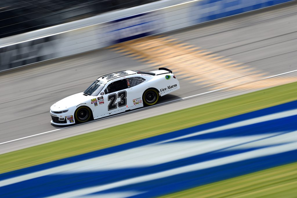JOLIET, ILLINOIS - JUNE 28: John Hunter Nemechek, driver of the #23 Chevrolet, practices for the NASCAR Xfinity Series Camping World 300 at Chicagoland Speedway on June 28, 2019 in Joliet, Illinois. (Photo by Jared C. Tilton/Getty Images)   Getty Images